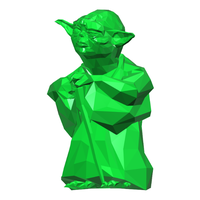Small Yoda - Star Wars (Low Poly) 3D Printing 111398