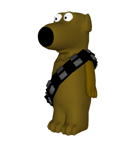 Family Guy - Brian as Chewbacca 3D Print 111400
