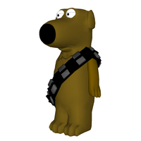 Small Family Guy - Brian as Chewbacca 3D Printing 111400