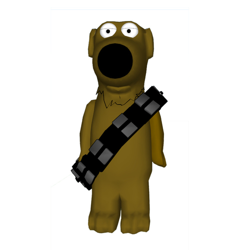 Family Guy - Brian as Chewbacca 3D Print 111402