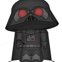 Small Family Guy - Darth Stewie 3D Printing 111412