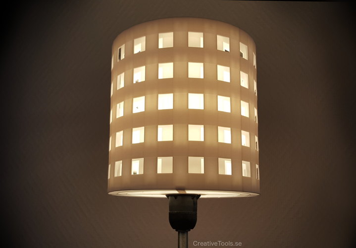 3D Printed Lampshade for standard light fixture (concentric walls ...