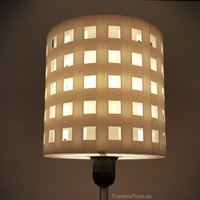 Small Lampshade for standard light fixture (concentric walls) 3D Printing 111442