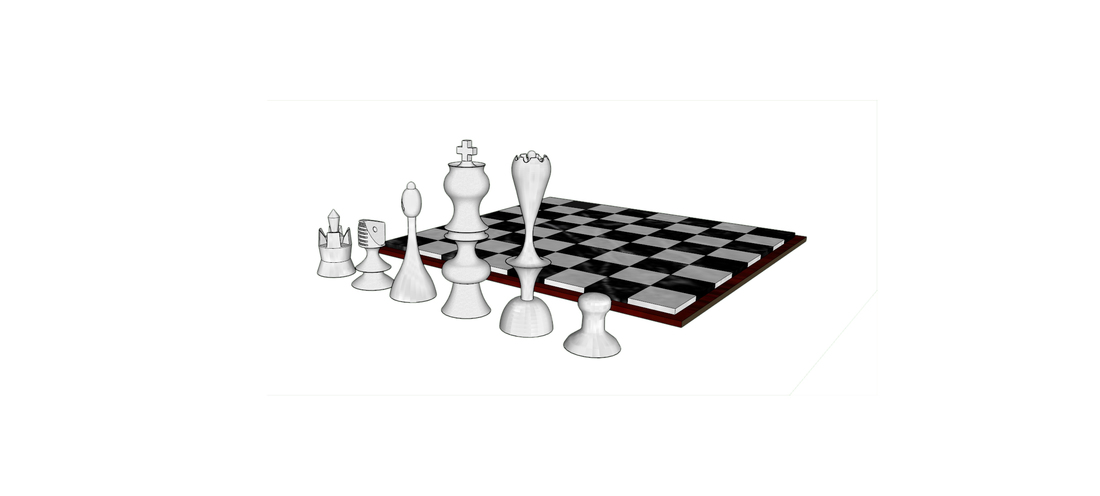 Chess Set 3D Print 111464