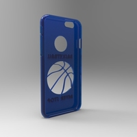 Small iphone 6 case Basketball never stop 3D Printing 111474