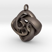 Small Interlocking Celtic Necklace Pendant  3D Printing 11149