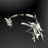 Small Dragon Necklace 3D Printing 111600