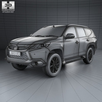 Small Mitsubishi Pajero Sport (TH) 2016 3D model 3D Printing 111620