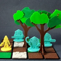 Small Modular Tree Preview 3D Printing 1118