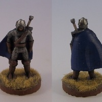 Small Northern Warrior with Greatsword 3D Printing 1119