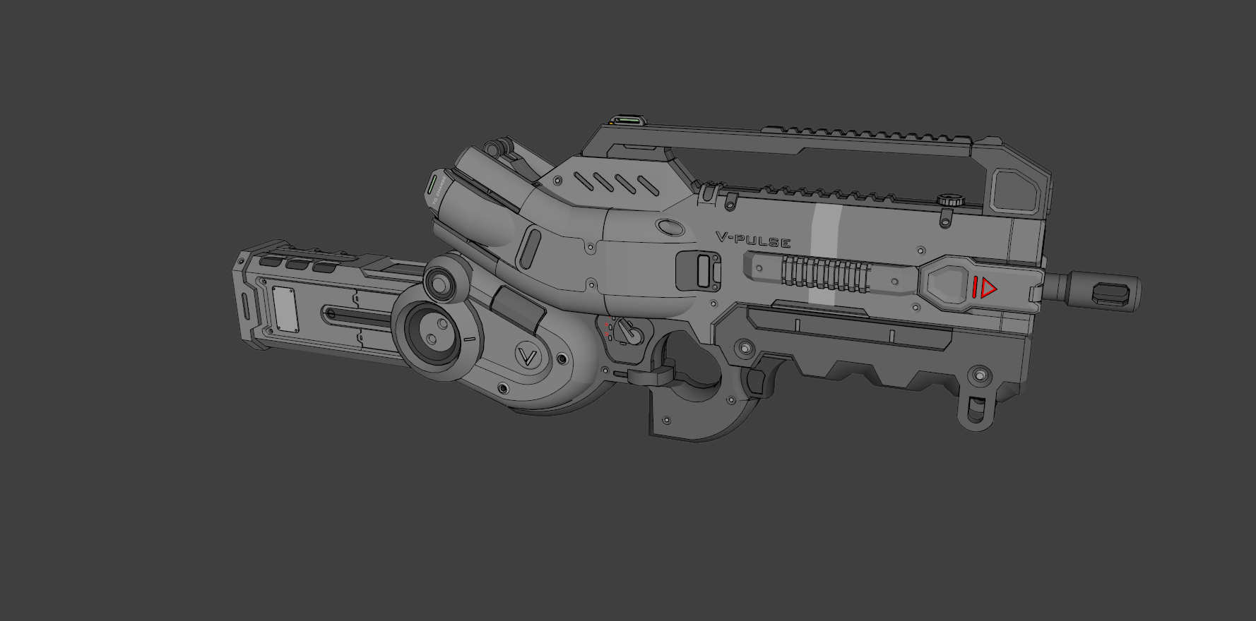 V Pulse - Sci-fi Gun @ Pinshape