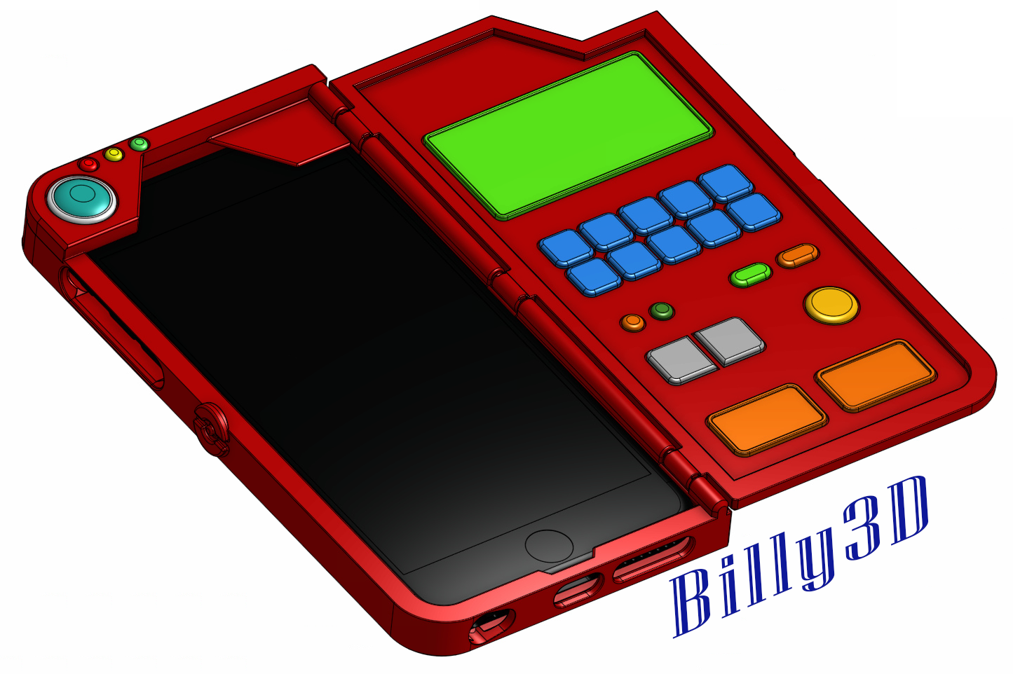 info for db82f 66327 3D Printed Pokédex Like iPhone (6/6s/7) Plus Case by Billy Mouser ...