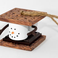 Small Marshmallow S'mores Christmas Ornament 3D Printing 112109