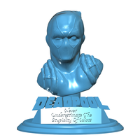 Small Deadpool Bust 3D Printing 112221