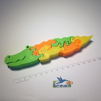 Small Alligator 3D puzzle 3D Printing 112359