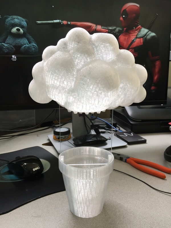 Medium Rainy Cloud Planter 3D Printing 112461