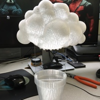 Small Rainy Cloud Planter 3D Printing 112461