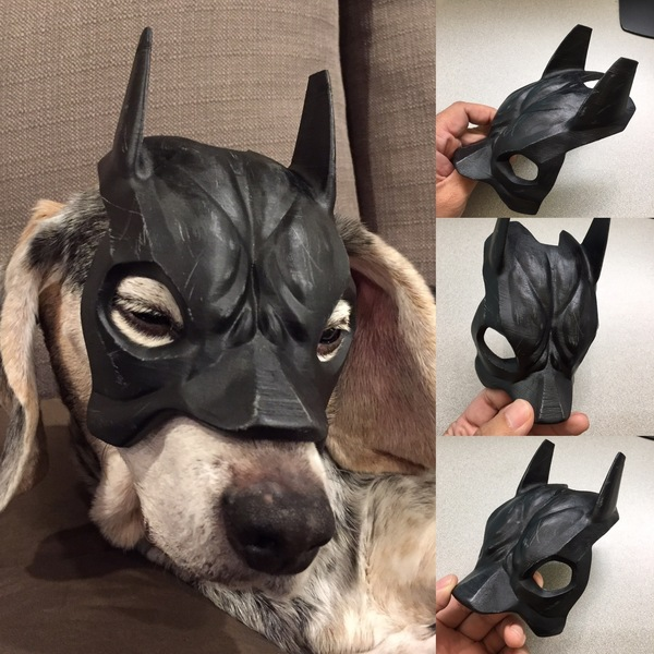 Medium Bat Beagle Mask 3D Printing 112592