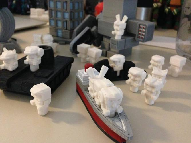 Mech City: People Pack 3D Print 112604