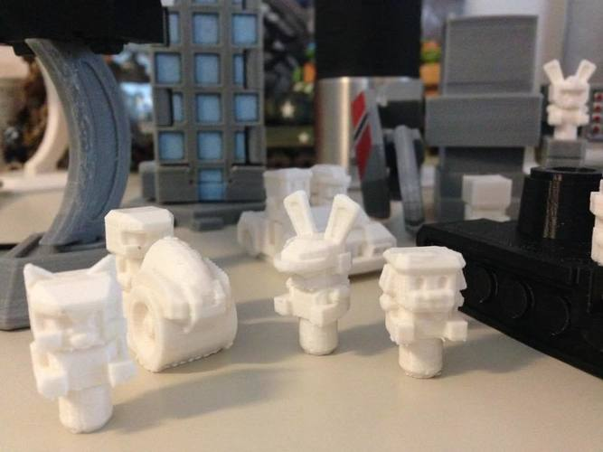 Mech City: People Pack 3D Print 112605