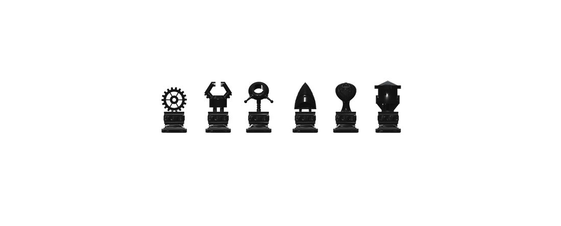 Chess set 9 - Robot Themed 3D Print 112737