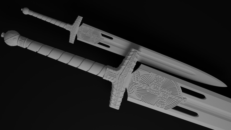 The Young Wolf's Howl, Exotic Sword from Destiny's Rise of Iron 3D Print 112752