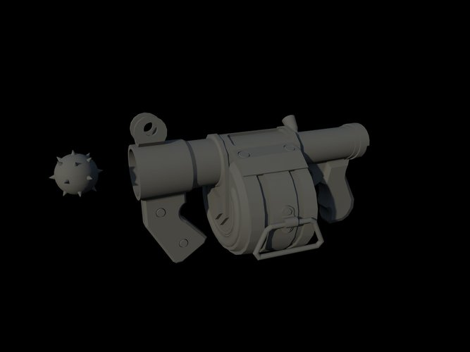 stickbomb laucher - Team Fortress 2 - O Demoman 3D Print 112827