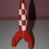 Small Tintin Rocket 3D Printing 112950