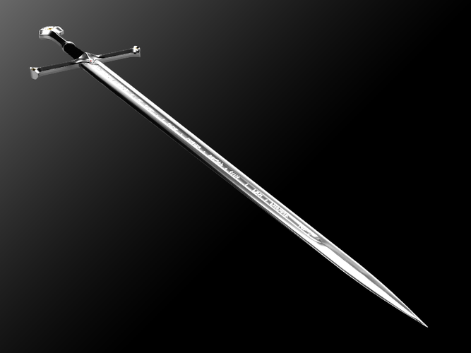 Andúril (Aragorn's sword) - Lord of The Rings 3D Print 113015