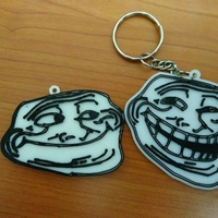 Small troll meme face keychain 3D Printing 113075