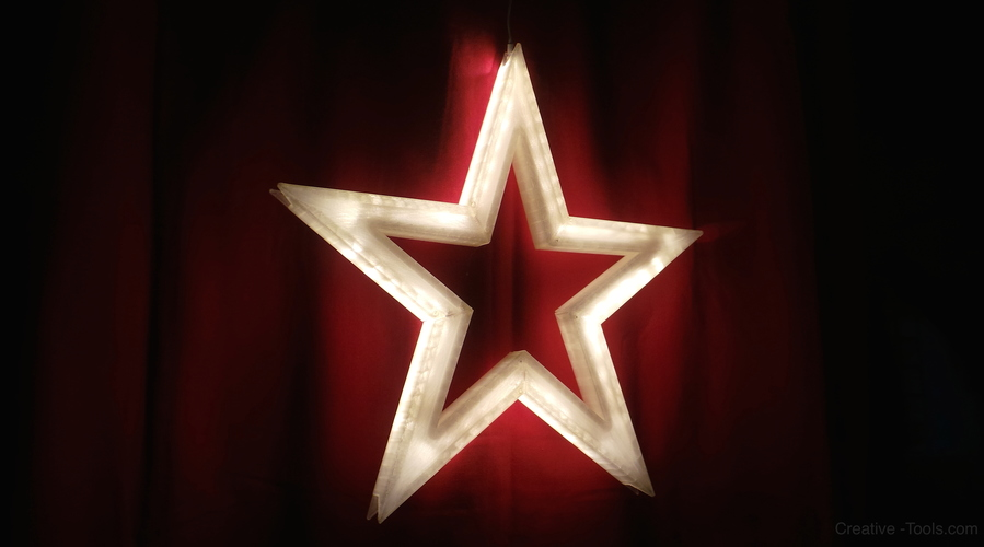 Vega - The LED-lit Christmas Star 3D Print 11309