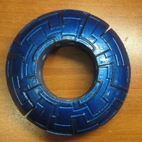 Small Two part Sci-fi bracelette 3D Printing 113099