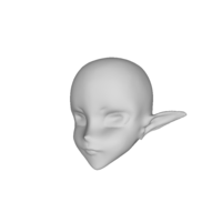 Small Elf head 3D Printing 113104