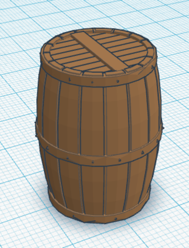 Wood Barrel 3D Print 113123