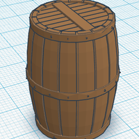Small Wood Barrel 3D Printing 113123