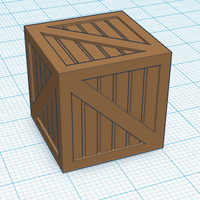 Small Wood Crate 3D Printing 113125