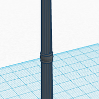 Small Old Street Lamp 3D Printing 113126