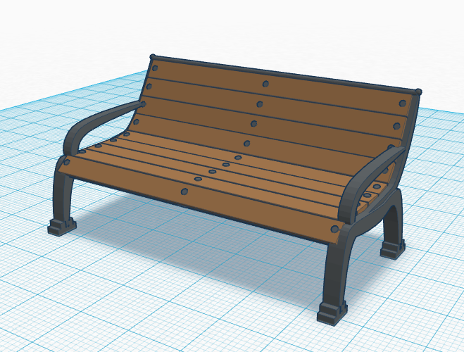 Old Bench 3D Print 113127