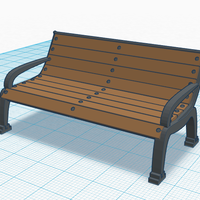 Small Old Bench 3D Printing 113127