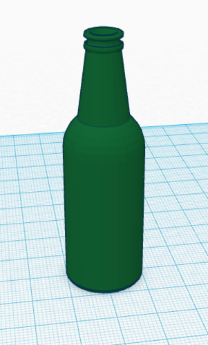 Glass Bottle 3D Print 113129