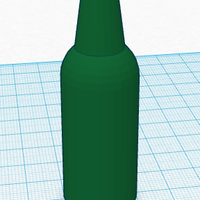 Small Glass Bottle 3D Printing 113129