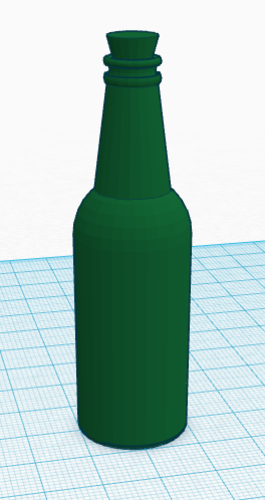Glass Bottle 3D Print 113130