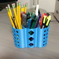 Small 3-section pencil holder 3D Printing 113196