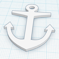 Small Anchor Trinket / Bracelet 3D Printing 113203