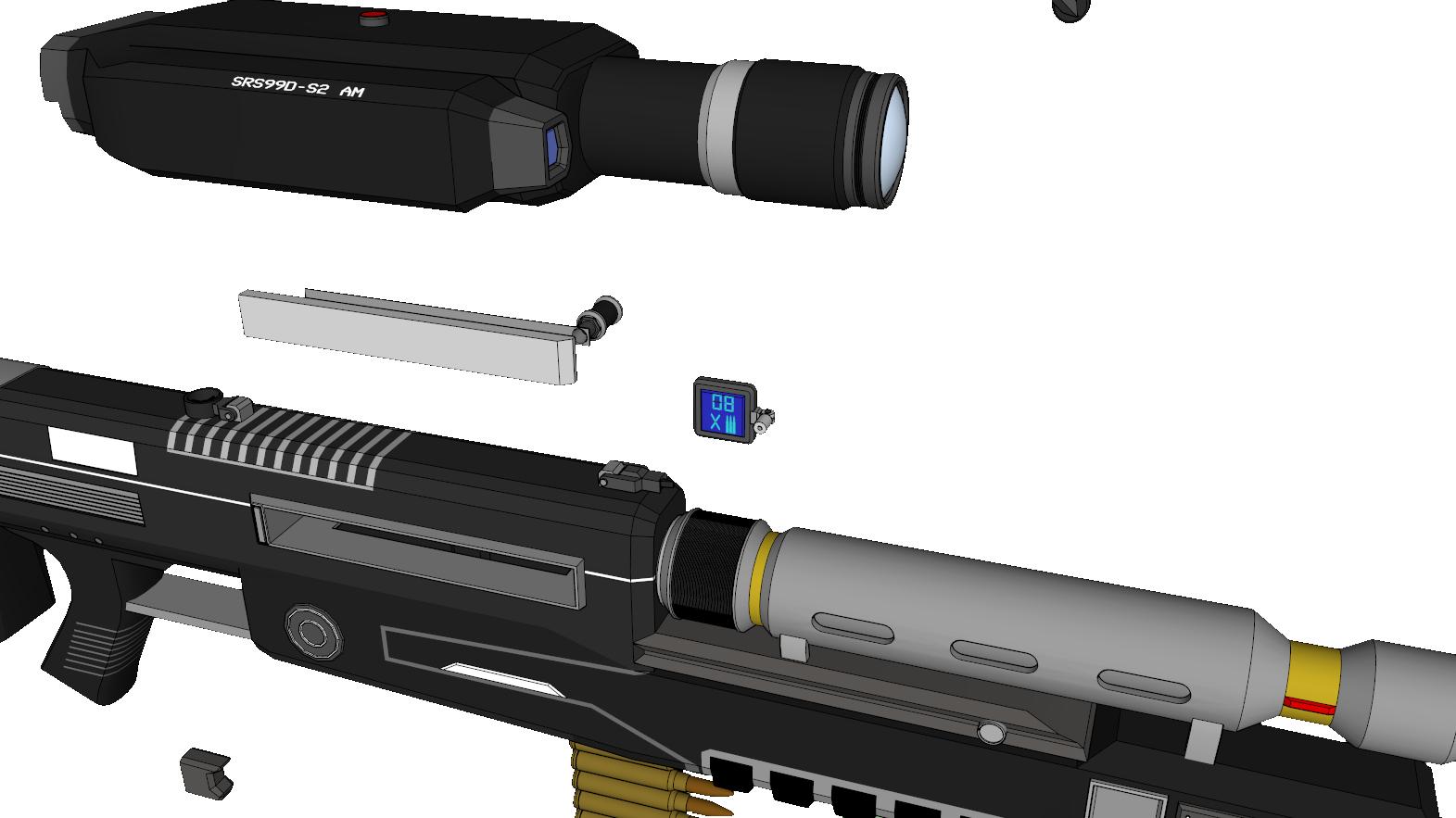 SRS 99 D Sniper Rifle - Halo @ Pinshape