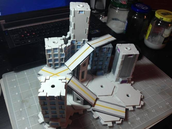 Mech City: City Play Set 3D Print 113223