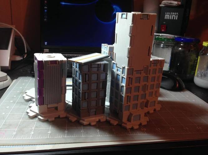 Mech City: City Play Set 3D Print 113224