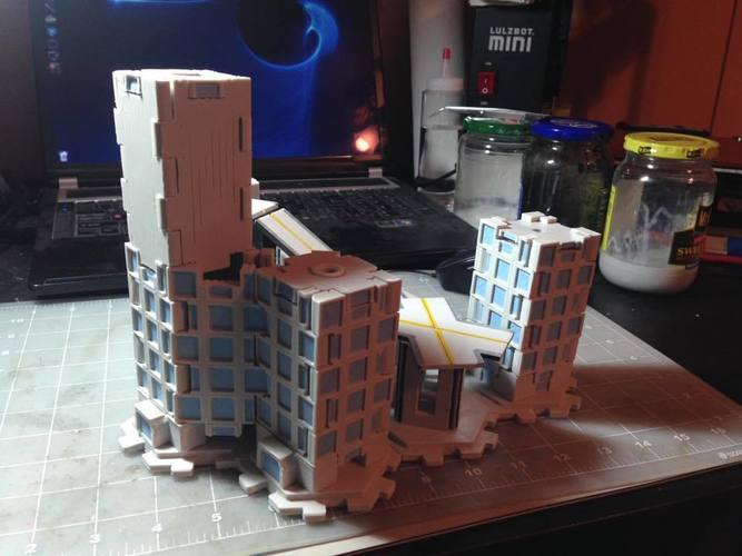 Mech City: City Play Set 3D Print 113225