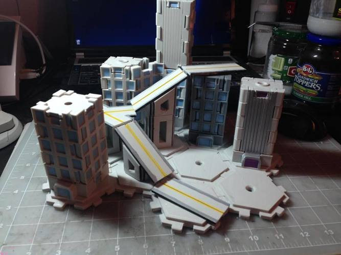 Mech City: City Play Set 3D Print 113226