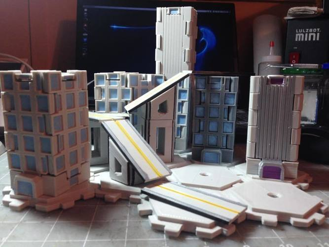 Mech City: City Play Set 3D Print 113227